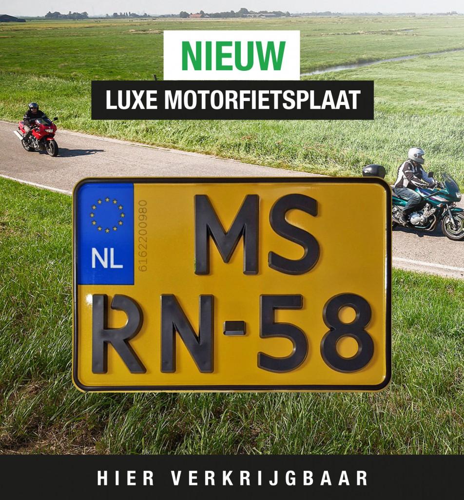 luxe kentekenplaat motorfiets